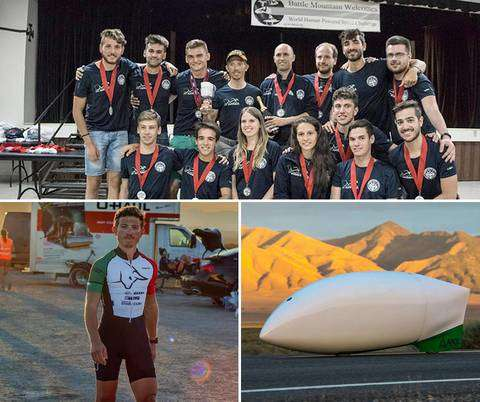 Andrea Gallo e il Team Policumbent vincono il World Human Powered Speed Challenge