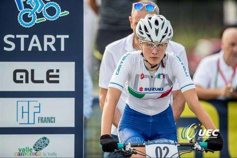 Anna Oberparleiter quinta nell'XC Eliminator (foto federciclismo)