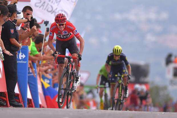 Chris Froome vincitore nona tappa Vuelta Spagna (foto cyclingnews)
