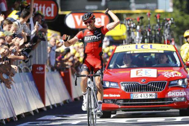 Greg Van Avermaet vincitore quinta tappa Tour de France (foto bettini cyclingnews)