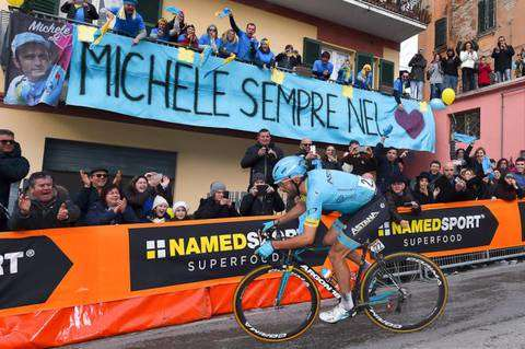 Il ricordo di Michele Scarponi a Filottrano (foto bettini cyclingnews)