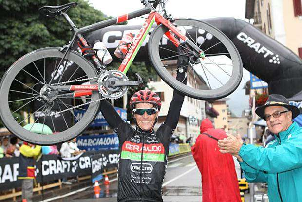 Il vincitore della Marcialong Cycling Craft Robert Cunico (foto Newspower)