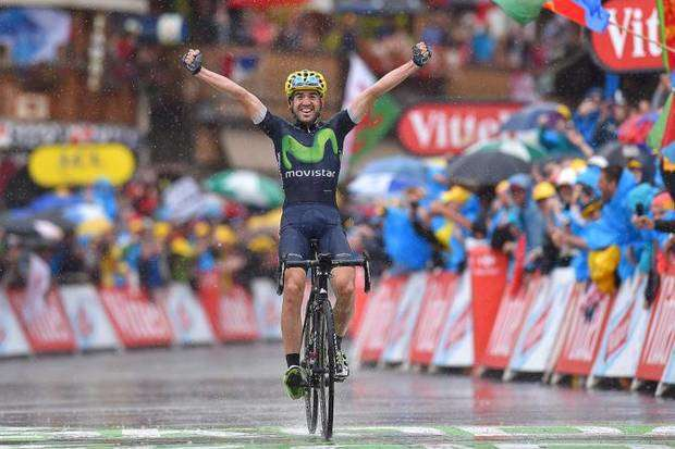 Ion Izagirre team Movistar bici Canyon vincitore tappa Morzine al Tour de France 2016 (foto cyclingnews)