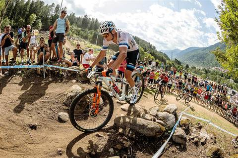 Mathieu Van der Poel domina in Val di Sole (foto federciclismo)