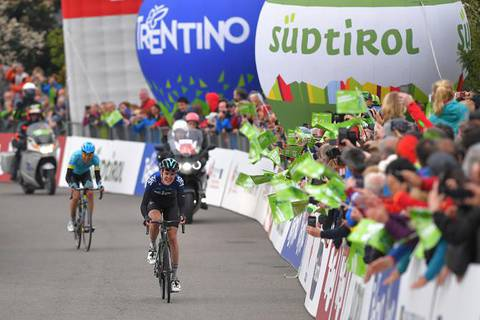 Pavel Sivakov vincitore tappa 2 del Tour of the Alps (foto cyclingnews)