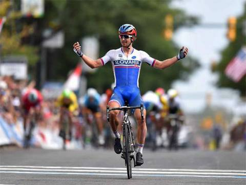 Peter Sagan Campione del Mondo a Richmond (foto cyclingnews)