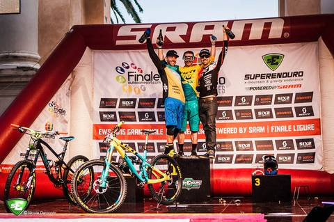 Podio Enduro World Series Finale Ligure (foto savonanews.it)