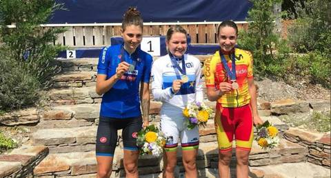 Podio Under23 femminile (foto federciclismo)