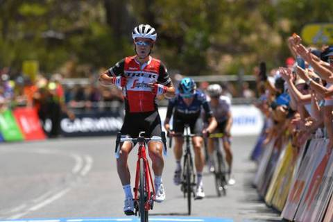 Richie Porte vincitore del Tour Down Under (foto cyclingnews)