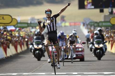Steven Cummings vince la tappa di Mende al Tour de France (foto cyclingnews)