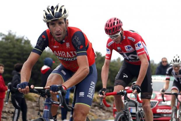 Vincenzo Nibali duella con Chris Froome alla Vuelta (foto bettini cyclingnews)